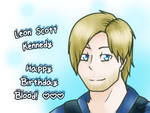 RE- Leon S. Kennedy| Happy Birthday Blood! by DevilsRealm