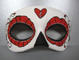 Day of the Dead red mask by maskedzone