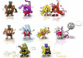 If  `FnaF` was in the cartoon `GoGoriki` !=D by cat-dog2001
