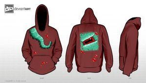 Watch out for the Kraken! - 8Bit Hoodie Design by EiljaGorgor