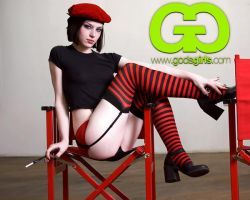 Gods Girl Stoya Red by JonnyBalls
