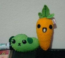 Mameshiba and Mr.Carrot plushies by Angel312