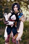 Everybody loves a cats - Yuffie and Cait Sith by Narga-Lifestream