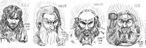 Daily Doodles Thorin's Company 1 by MichaelOdomArt