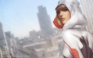 Spider Gwen Wallpaper by WeijiC
