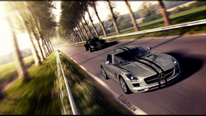 Mercedes Benz SLS AMG 2010 by Yorzua