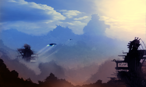 Matte Painting - Valleys - PRINT /PSD by Blue-Lovag