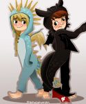 Dragon Rider Onesies by eas123