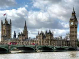 Westminster Palace and Bridge by MisterKrababbel
