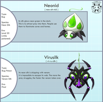 Neon Silk Spider Fakemon by Twime777