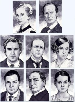 Downton Abbey Sketch Cards by Kapow2003