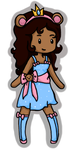 Teddy Bear Princess Animated Adoptable by Queen-Of-Cute