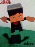 Superboy Papercraft by jazzmellon