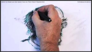 Draw An Old Man's Face In Two Point Perspective 39 by drawingcourse