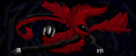 Black Dragon with Red Fur by DragonFang01
