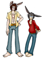 Bunny Brothers 2 by LadyMischievous