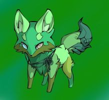 Forest fox adopt (elemental fox adopt) *closed* by Fishtailholly