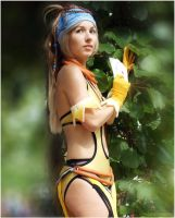 Rikku in the garden by Vanne