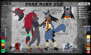 |The Dark Aura Duo| Reference Sheet [OUTDATED] by FluffyNap