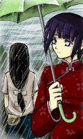 Neji and Hinata -- rainy day by funny-neko