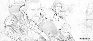 Mass Effect 2 Drawing Effect by BlueWolfSoul