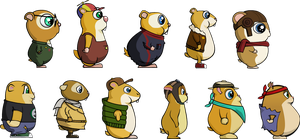hamster character design by AvieYoshi