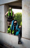Cybergoth girls by mysteria-violent