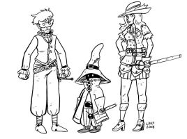 Final Fantasy Mages by larsony