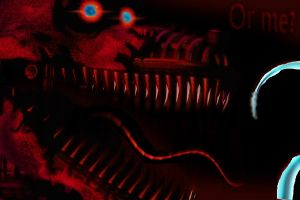 Nightmare Foxy Photoshop by mikequeen123
