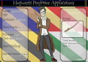 Hogwarts Professor Application - Roderick Dyer by ShamanEileen