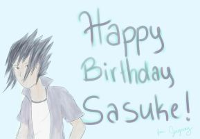 Happy Birthday Sasuke! 2012 by JeiGoWAY