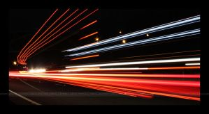 Pacific Highway at Night by LynTaylor
