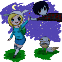 Fionna and the Vampire king by Ivy-Desu