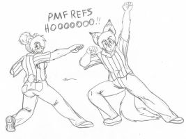 Saturday Evening Sketch - Dorky Referees by MoodyShooter