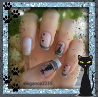Cats Nail Art by elegance2255