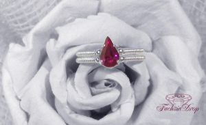Fuchsia Drop Ring by SweetCandyDreams