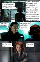 #SaveCoH--Black Widow and Loki Discuss by Todogut