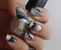Holographic with Monochrome Water Marble by Ithfifi