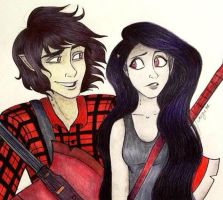 Marshall Lee and Marceline by caligrl7072