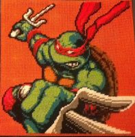 TMNT Epic Raphael full pattern by Serenity9900