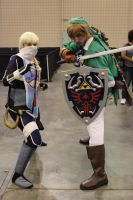 Link and Sheik by scoldingspirit84