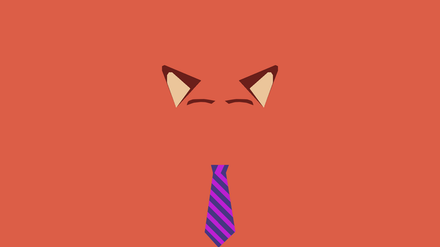 Minimalist Nick Wilde Wallpaper by TheCarrox