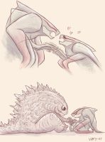 Muto's tiny arms by Vipery-07