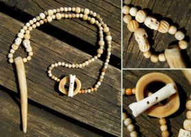 Bone Goddess Ritual Necklace by Lolair