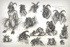 Faun families by JWiesner