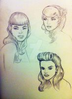 Rockabilly Chicks by Kozaburo