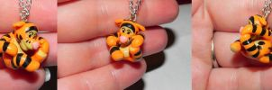 Tigger Custom Necklace by Secretvixen