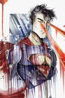 MAN OF STEEL: Superman dribbly by natty81