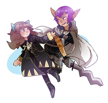 Commission: Lethe and Arion by Sarucho