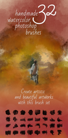 32 Watercolor Artistic Brushes by saimana